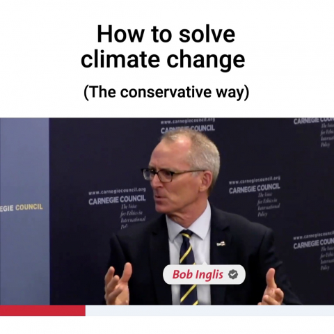 How to solve climate change (the conservative way) Bob Inglis
