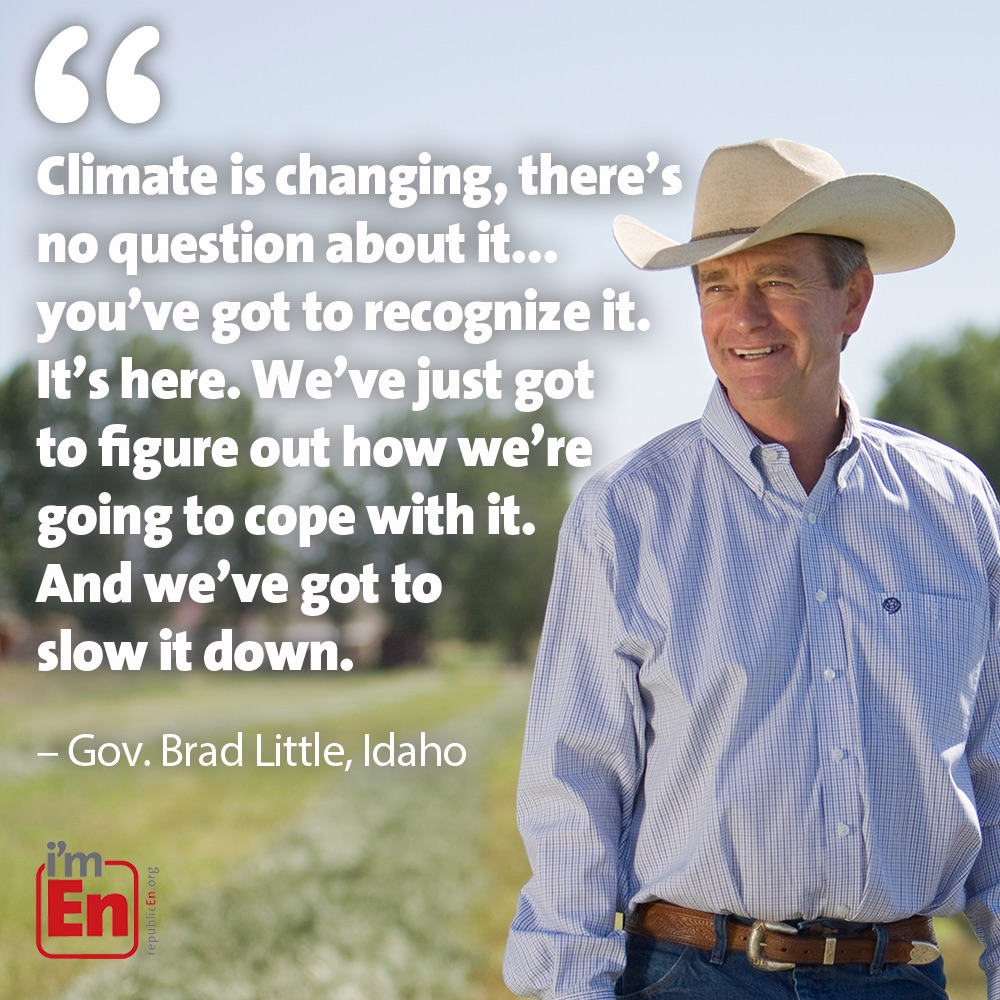 Brad Little Climate Quote