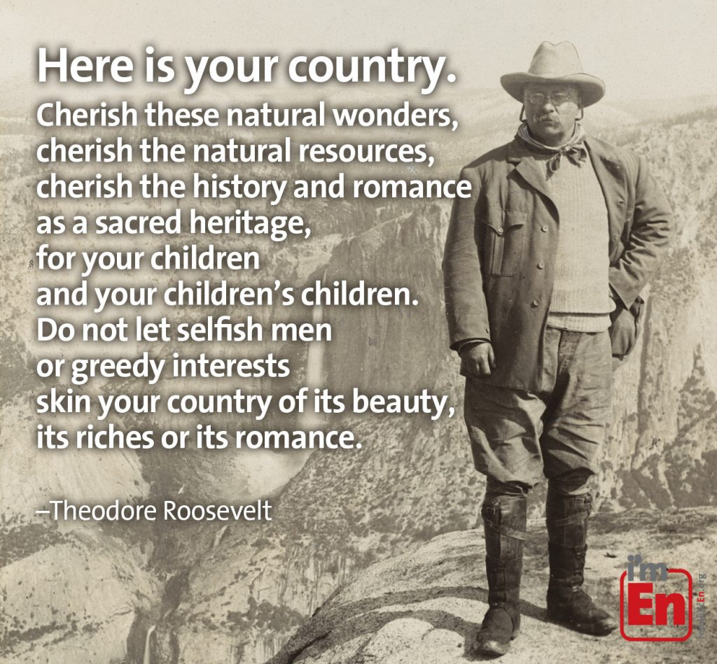 Teddy Roosevelt here is your country quote graphic