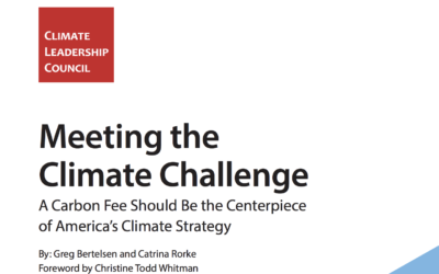 CLC report finds a carbon tax will go further, faster than any other climate policy