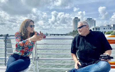 On Biscayne Bay with U.S. Rep. Maria Elvira Salazar